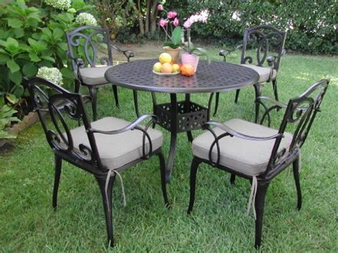 Black Cast Aluminum Patio Furniture by Black Friday Outdoor Cast Aluminum Patio Furniture 5 Pc
