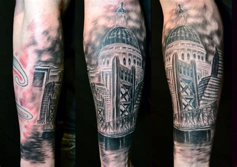 downtown sacramento sleeve by ryan el dugi lewis tattoonow