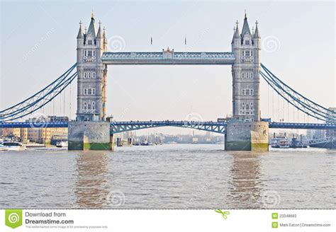 thames river bridge tower bridge from the river thames stock image image