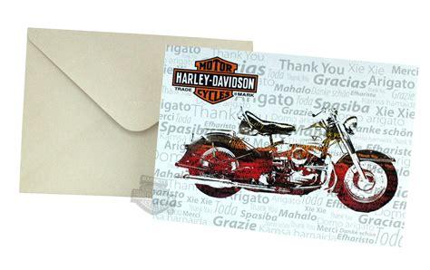 Harley Davidson Birthday Cards Hdl 20018 Harley Davidson 174 Nostalgic Bike Thank You