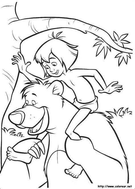 libro para colorear el libro de la selva dibujos para colorear de el libro de la selva 2