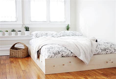 easy diy bed frame diy simple bed frame 187 the merrythought