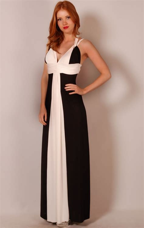 black and white maxi in new fashion collection fashion