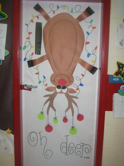 Reindeer Door Decorations by Doors Classroom Door And Classroom Door On