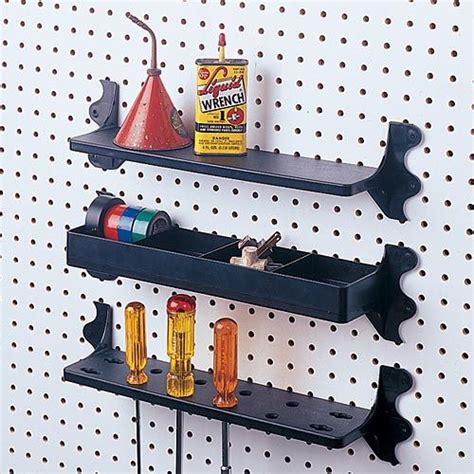peg board shelves pegboard tool shelves play room