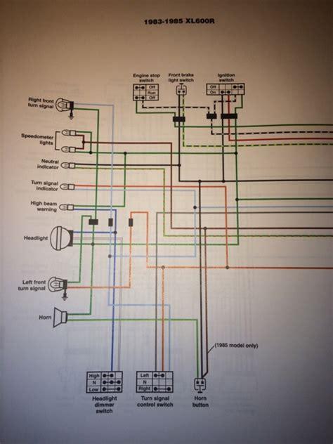 1987 honda xl600r wiring diagram honda cb550 wiring