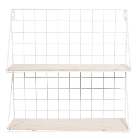 Etagere Metal Blanc by 201 Tag 232 Re Murale En M 233 Tal Blanc Clint Maisons Du Monde