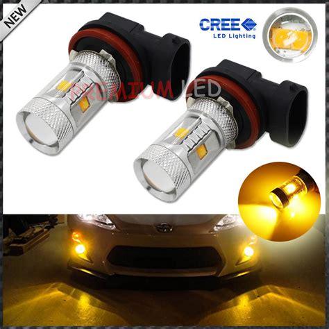 2pcs Jdm Gold Yellow 3000k 30w Cree High Power H8 H11 Led Cree Led Fog Light Bulbs