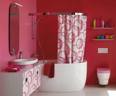 Tirai Toilet desain kamar mandi pink cantik rancangan desain rumah