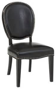 Black Leather Parsons Dining Chairs Blaine Parsons Chair Bonded Black Leather Set Of 2 Transitional Dining Chairs By Bassett