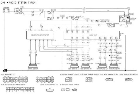 1994 mazda rx 7 audio system type 1 wiring diagram all
