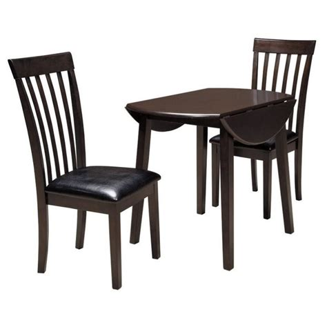3 piece dining room set ashley hammis 3 piece dining room set in dark brown d310