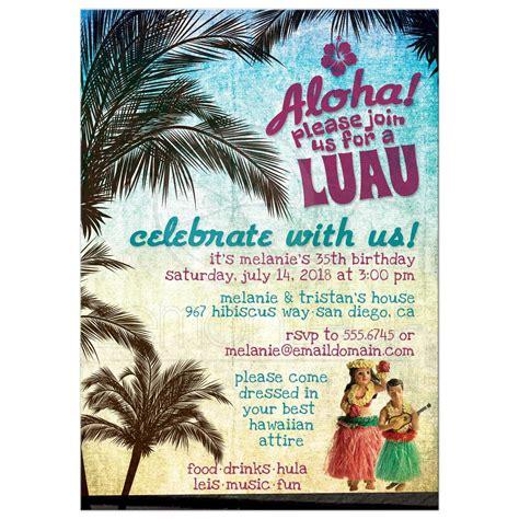 Home Front Decor Ideas by Luau Invitations Retro Hawaiian Beach Party