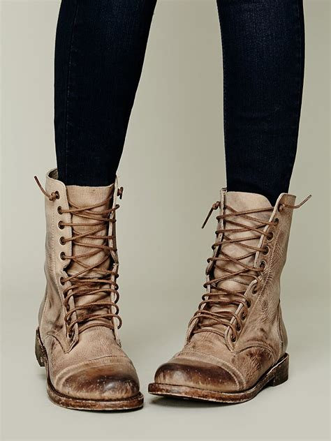 Lace Up Boots lyst freebird by steven fletch lace up boot in brown