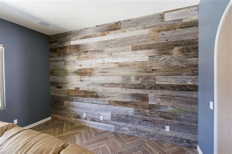 Teal Kitchen Ideas by Reclaimed Tobacco Barn Grey Wood Wall Porter Barn Wood