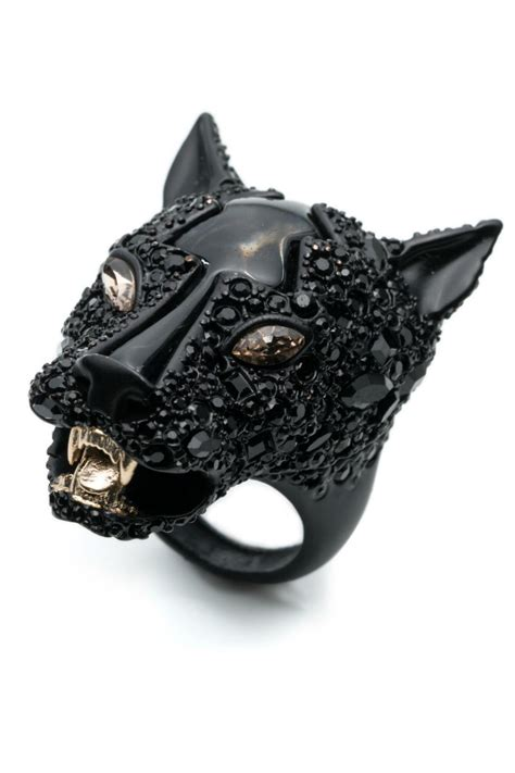 Get The Look Camerons Panther Ring by Bittar Black Panther Ring From Dublin By Loulerie