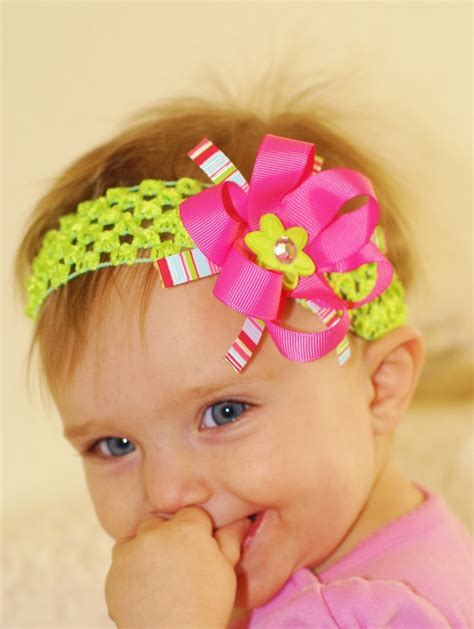 best baby locks bows for babies polka dot shocking pink and white over
