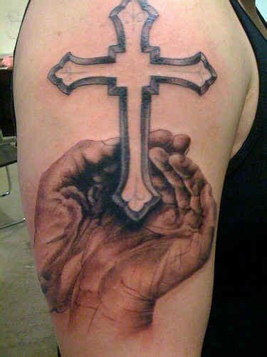 open hands tattoo designs 75 cross tattoos