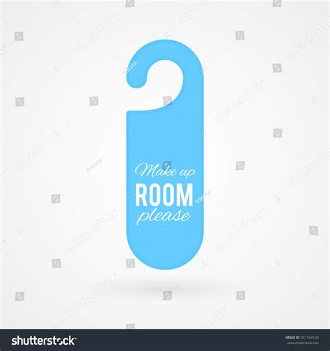 text room door hanger with text quot make up room quot stock vector illustration 301163150