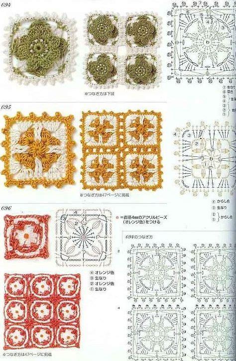 500 motifs pattern stitches techniques 233 best crochet granny squares techniques images on