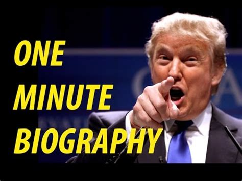 biography donald trump youtube one minute biography donald trump youtube