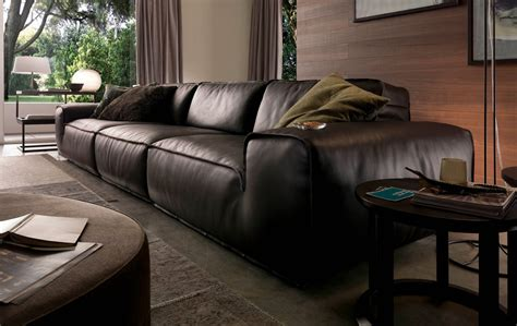 chateau d ax leather sofa avenue leather sectional by chateau d ax italia is