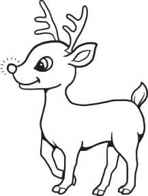 reindeer coloring pages free printable baby reindeer coloring page for