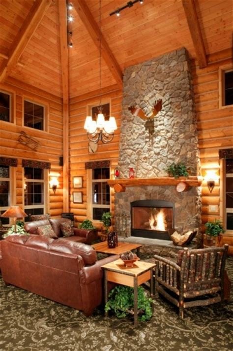 Small Log Home Interiors by Log Cabin Homes Kits Interior Photo Gallery
