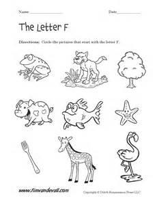 Letter f worksheets preschool alphabet printables