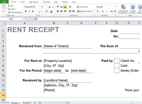 format excel like word where can you find the best excel word rental receipt