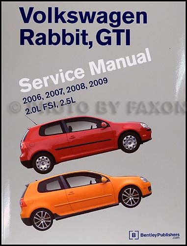 auto repair manual free download 2006 volkswagen rabbit user handbook 2006 2009 volkswagen rabbit gti repair shop manual