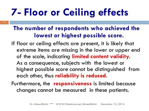 Ceiling And Floor Effect by How To Assess Questionnaires