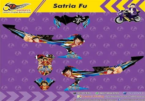 Sticker Striping Satria Fu Vr46 custom decal vinyl striping motor motor satria fu thema one by digitive vinyls