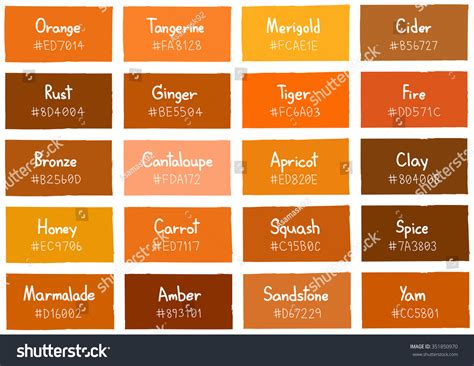 shades of orange color chart orange paint color chart pictures to pin on pinterest
