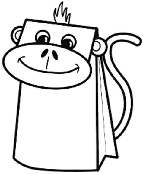 monkey paper bag puppet template paper bag monkey puppet storyplace