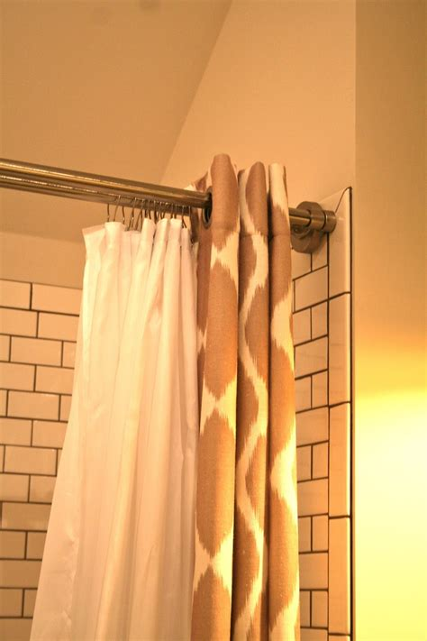 double shower curtain rod design dump new favorite thing double tension shower rod