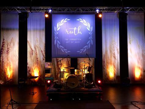 best xmas stage decoration field strips church stage design ideas