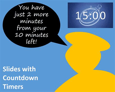 powerpoint countdown timer template slides with countdown timers