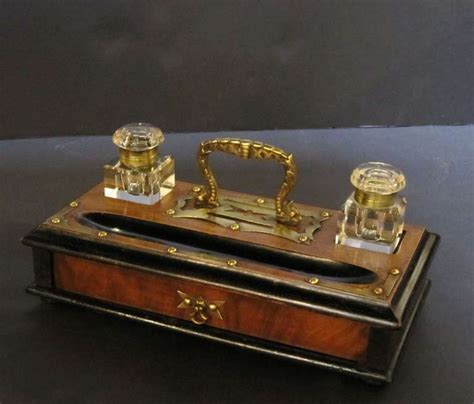 desk set with inkwells from the arts and crafts