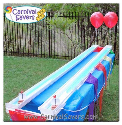 boten spelletjes rain gutter regatta school carnival game idea toy