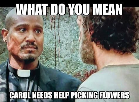 Carol Walking Dead Meme - 606 best the walking dead funny memes season 5 images on