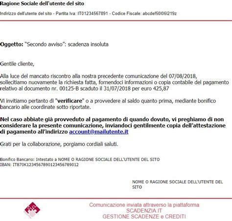 lettere di sollecito pagamento esempi dei solleciti inviato portale sollecito eu