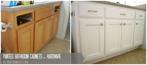 bathroom cabinets painted restoration beauty painted bathroom cabinets hardware