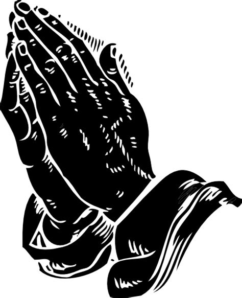 praying hands black clip art at clker com vector clip