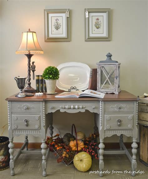 a painted antique desk makes the grade postcards from