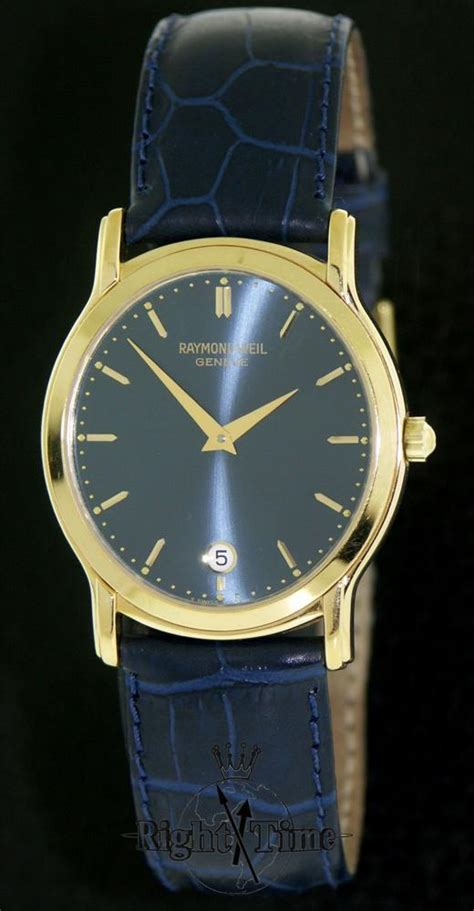 raymond weil tradition blue 5571 p 50001 pre owned