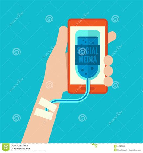 Technology Detox Illustrations by Smartphone Addiction Stock Vector Image 44925555