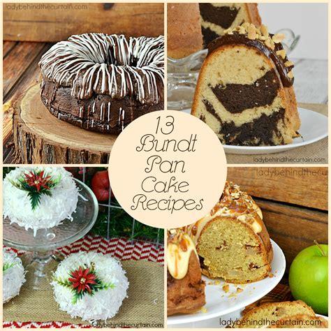 13 bundt pan cake recipes