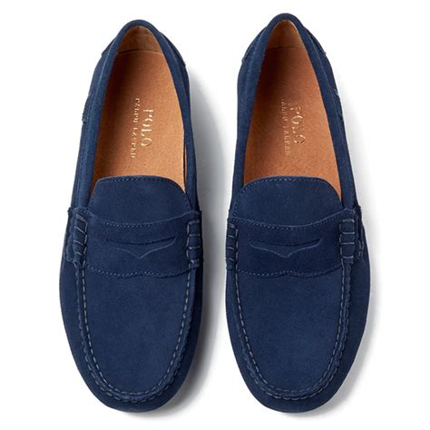ralph loafers polo ralph s wes e suede loafers newport navy