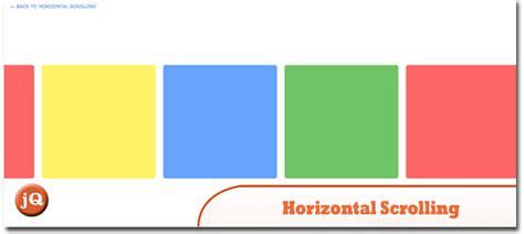 horizontal website tutorial jquery 10 random jquery plugin friday goodness